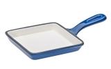 FRS-292/BLUE Сковорода чугунная син 14.5*14.5*2 см