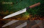 Нож кухонный Янагиба Samura Okinawa SO-0110, AUS 8, 58 HRC, палисандр