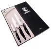 Набор подарочный COIMBRA из 3 ножей в подарочной коробке рукоять -красное дерево
